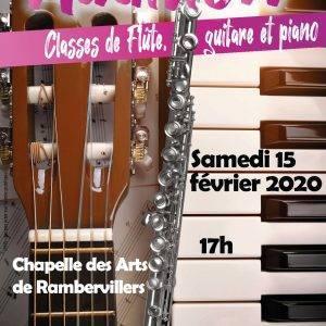 Audition de flûte, guitare et piano