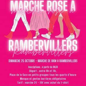🏃♀️Marche et vitrines roses à Rambervillers