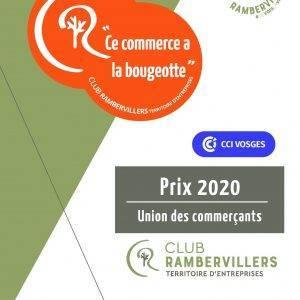 1er prix 2020 des Unions de commerçants des Vosges