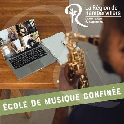 Reprise des cours en visio pour l'école de musique