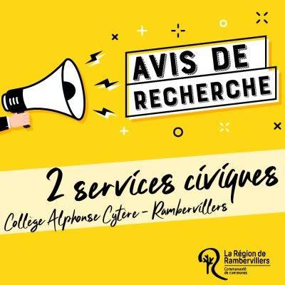 Collège Alphonse Cytère recherche 2 services civiques