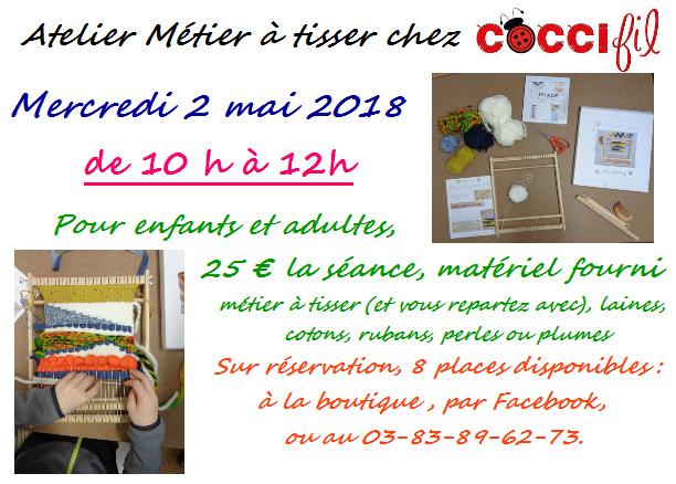 COCCIfil atelier métier à tisser 2 mai 2018