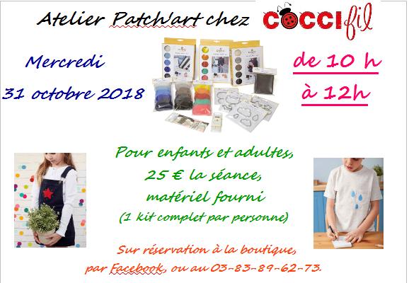 COCCIfil-atelier patch'art 31 oct 2018